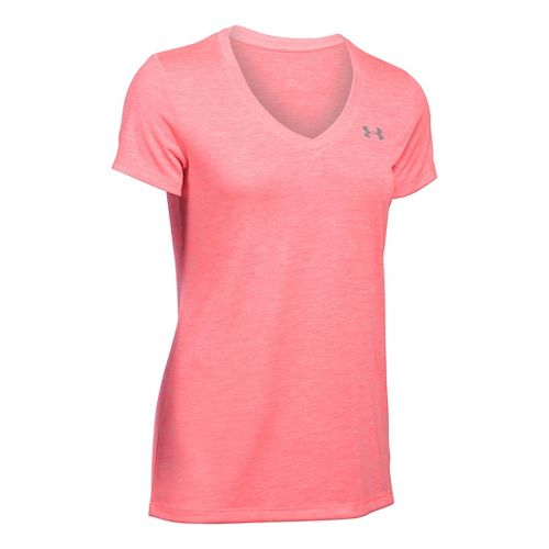 Womens Under Armour Tech V-Neck Twist Short Sleeve Technical Tops - Brilliance M
