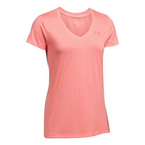 Womens Under Armour Tech V-Neck Twist Short Sleeve Technical Tops - Brilliance M