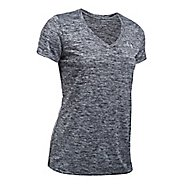 Womens Under Armour Twisted Tech V-Neck Short Sleeve Technical Tops