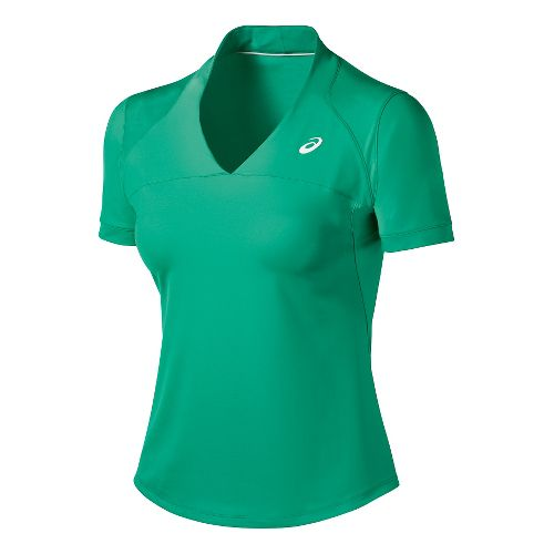 Womens ASICS Athlete Short Sleeve Technical Tops - Cool Mint M