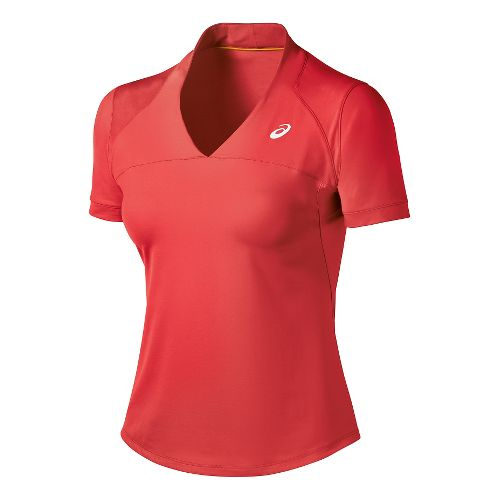 Womens ASICS Athlete Short Sleeve Technical Tops - Coralicious L