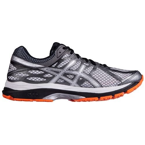 Mens ASICS GEL-Cumulus 17 Running Shoe - Silver/Orange 10.5