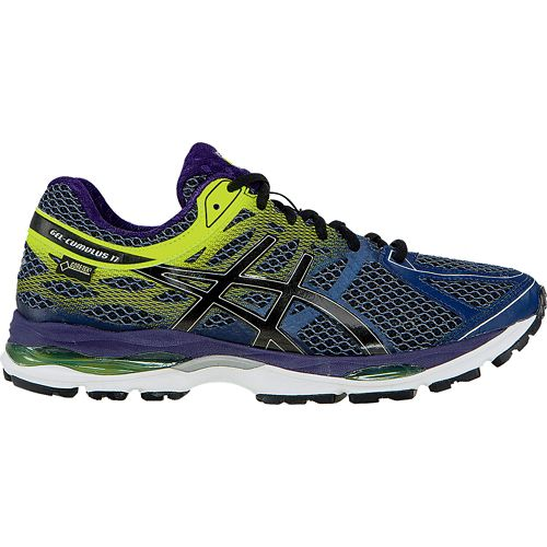 Mens ASICS GEL-Cumulus 17 Running Shoe - Indigo/Flash Yellow 10.5
