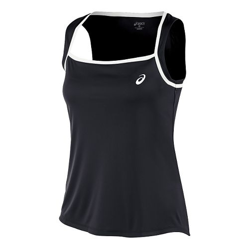 Womens ASICS Club Tank Technical Tops - Black L