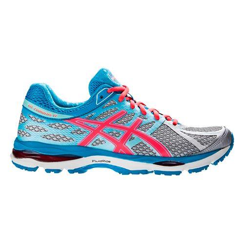 Womens ASICS GEL-Cumulus 17 Running Shoe - Silver/Pink 9.5