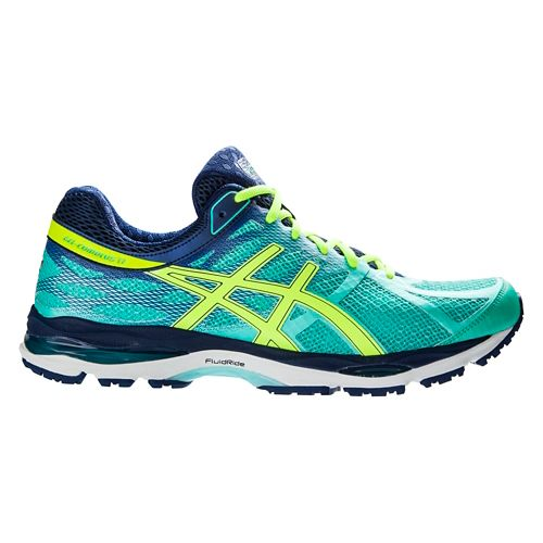 Womens ASICS GEL-Cumulus 17 Running Shoe - Mint/Yellow 5