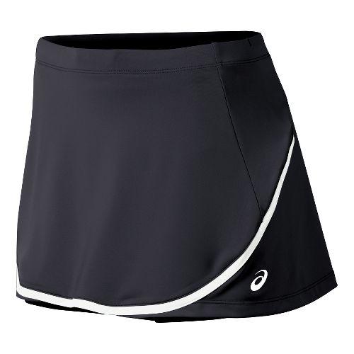 Womens ASICS Club Skort Fitness Skirts - Black XL