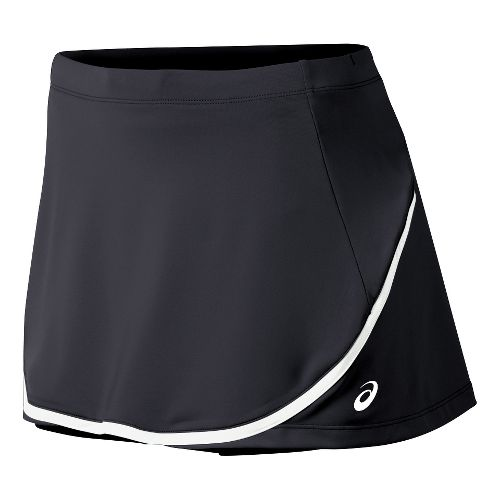 Womens ASICS Club Skort Fitness Skirts - Black XS