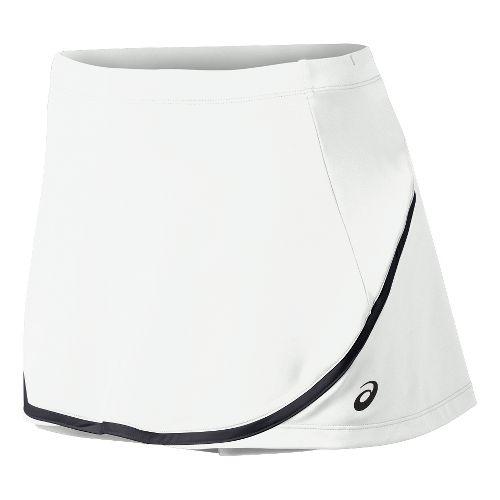 Womens ASICS Club Skort Fitness Skirts - Real White M