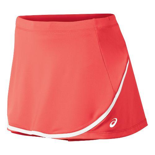 Womens ASICS Club Skort Fitness Skirts - Coralicious M