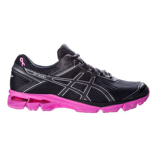 Mens ASICS GT-1000 4 Running Shoe - Black/Pink 12
