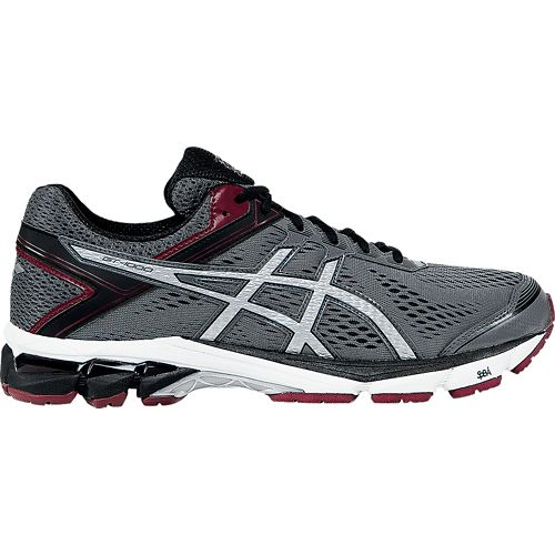 Mens ASICS GT-1000 4 Running Shoe - Grey/Maroon 12