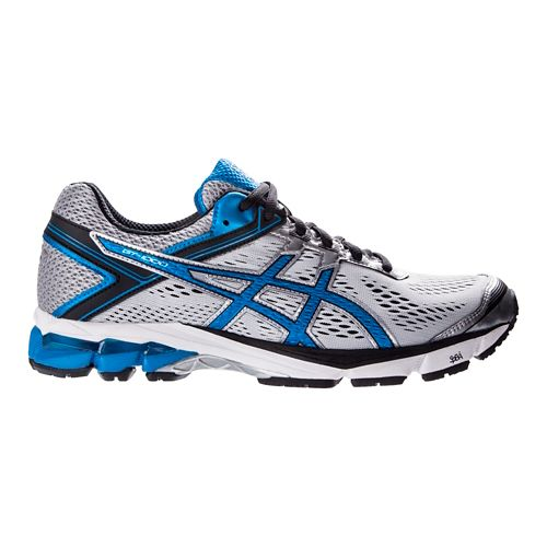 Mens ASICS GT-1000 4 Running Shoe - Silver/Blue 12