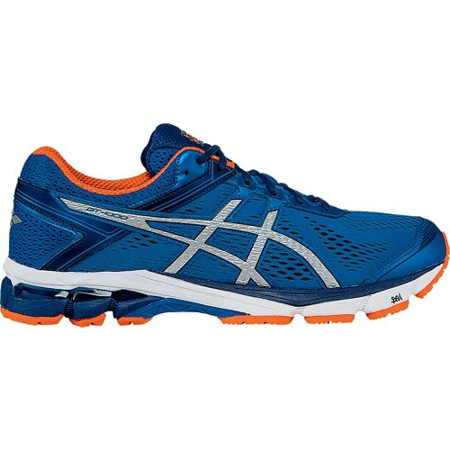 Mens ASICS GT-1000 4 Running Shoe - Blue/Orange 10