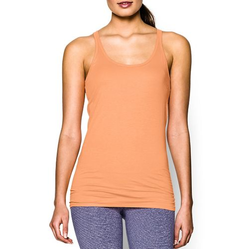 Womens Under Armour Long and Lean Tank Sport Top Bras - Afterglow S