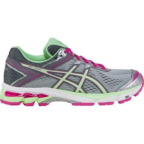 Womens ASICS GT-1000 4 Running Shoe - Silver/Mint 8.5