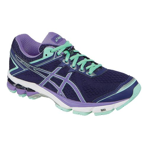 Womens ASICS GT-1000 4 Running Shoe - Midnight/Purple 10.5