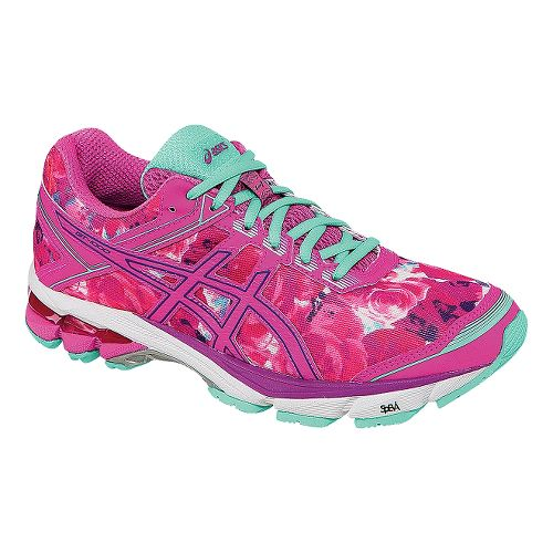 Womens ASICS GT-1000 4 Running Shoe - Pink/Mint 10.5