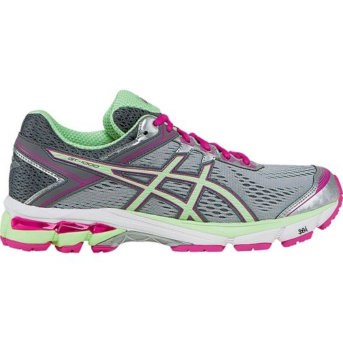 Womens ASICS GT-1000 4 Running Shoe - Silver/Mint 5.5
