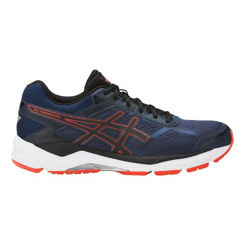 Mens ASICS GEL-Foundation 12 Running Shoe - Blue/Orange 10.5