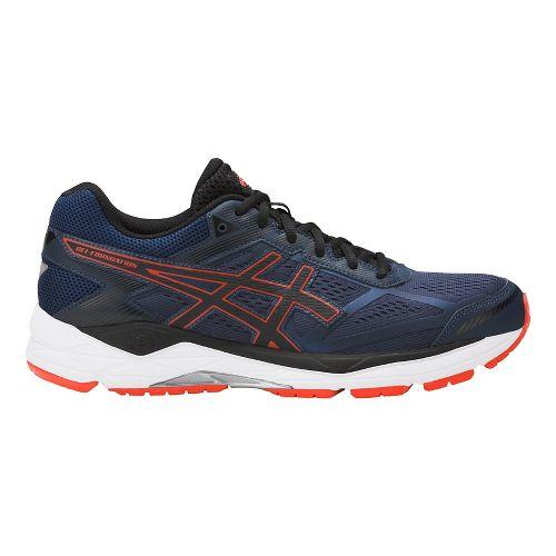 Mens ASICS GEL-Foundation 12 Running Shoe - Blue/Orange 7.5