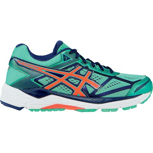 Womens ASICS GEL-Foundation 12 Running Shoe - Aqua Mint/Coral 7.5