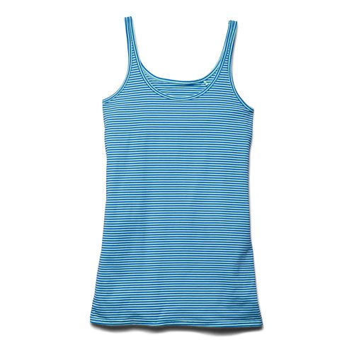 Womens Under Armour Long and Lean Novelty Tank Sport Top Bras - Crystal S