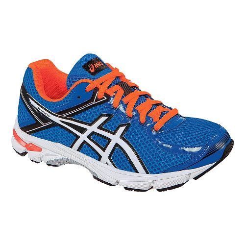 Kids ASICS GT-1000 4 Running Shoe - Blue/Orange 3.5Y