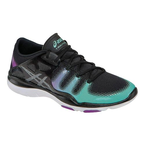 Womens ASICS GEL-Fit Vida Cross Training Shoe - Black/Mint 6.5