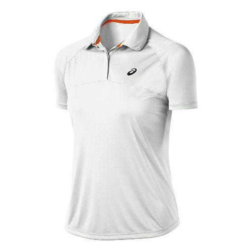 Womens ASICS Club Polo Short Sleeve Technical Tops - Real White XL