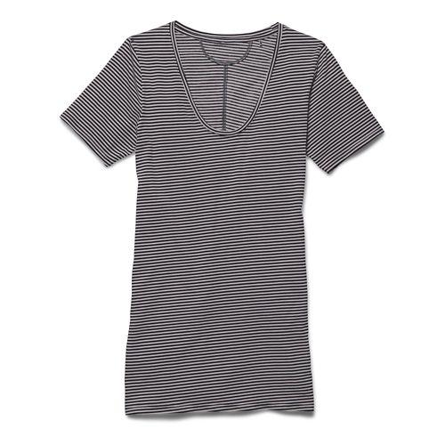 Womens Under Armour Long and Lean Novelty V-Neck Short Sleeve Technical Tops - Phantom Gray ...