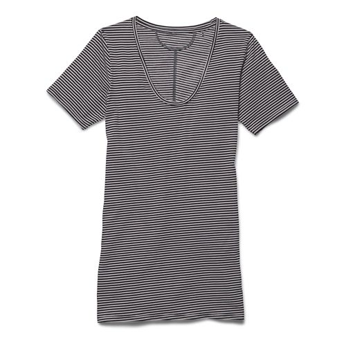 Womens Under Armour Long and Lean Novelty V-Neck Short Sleeve Technical Tops - Afterglow S ...