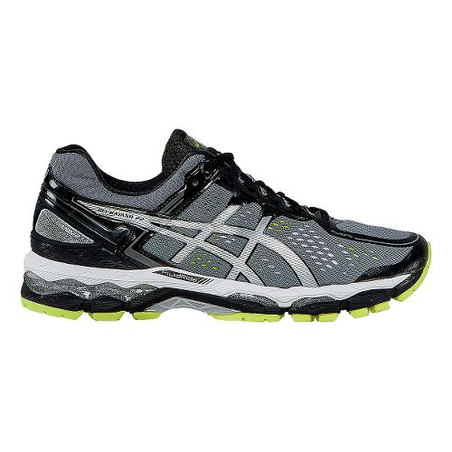 Mens ASICS GEL-Kayano 22 Running Shoe - Charcoal/Silver 9.5