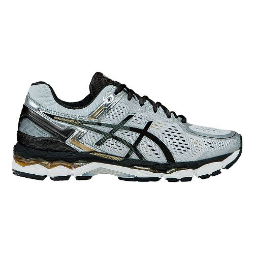 Mens ASICS GEL-Kayano 22 Running Shoe - Silver/Black 13.5