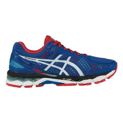 Mens ASICS GEL-Kayano 22 Running Shoe - Blue/White 9