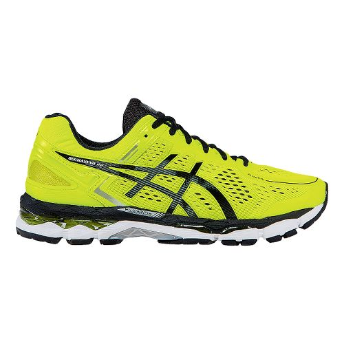 Mens ASICS GEL-Kayano 22 Running Shoe - Flash Yellow/Black 13