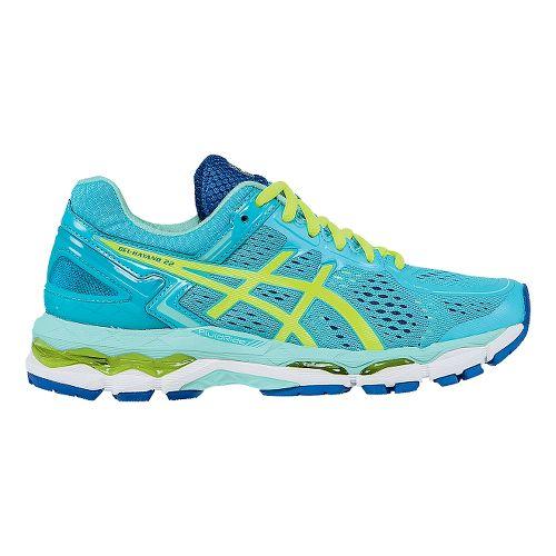 Womens ASICS GEL-Kayano 22 Running Shoe - Blue/Yellow 5.5