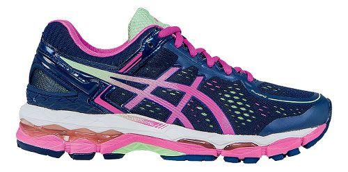 Womens ASICS GEL-Kayano 22 Running Shoe - Indigo/Pink 12