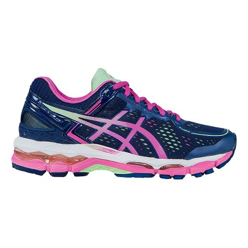 Womens ASICS GEL-Kayano 22 Running Shoe - Indigo/Pink 11.5