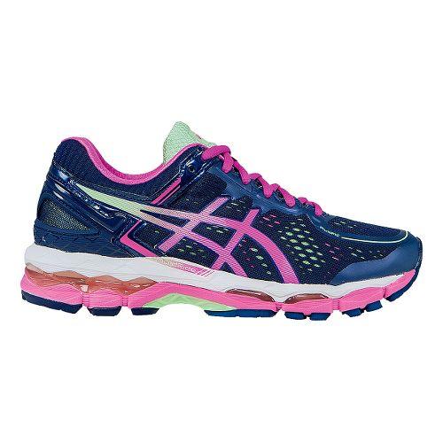 Womens ASICS GEL-Kayano 22 Running Shoe - Indigo/Pink 9.5