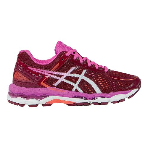 Womens ASICS GEL-Kayano 22 Running Shoe - Ruby/White 5