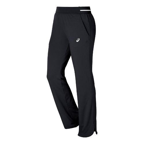 Womens ASICS Club Knit Full Length Pants - Black S