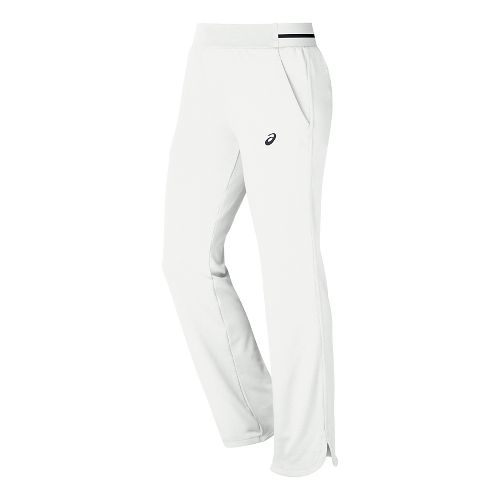 Womens ASICS Club Knit Full Length Pants - Real White XS