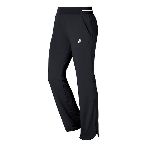 Womens ASICS Club Knit Full Length Pants - Black L