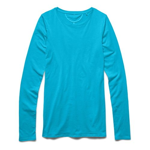 Womens Under Armour Long and Lean Long Sleeve No Zip Technical Tops - Island Blues ...