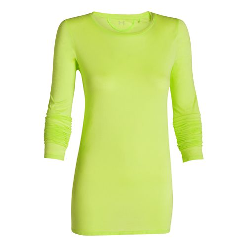 Womens Under Armour Long and Lean Long Sleeve No Zip Technical Tops - X-Ray XL ...