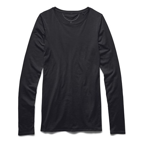 Womens Under Armour Long and Lean Long Sleeve No Zip Technical Tops - Faded Ink ...