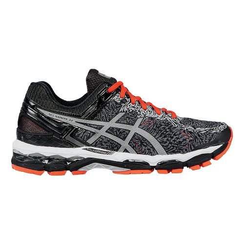 Mens ASICS GEL-Kayano 22 Lite-Show Running Shoe - Grey/Red 10.5