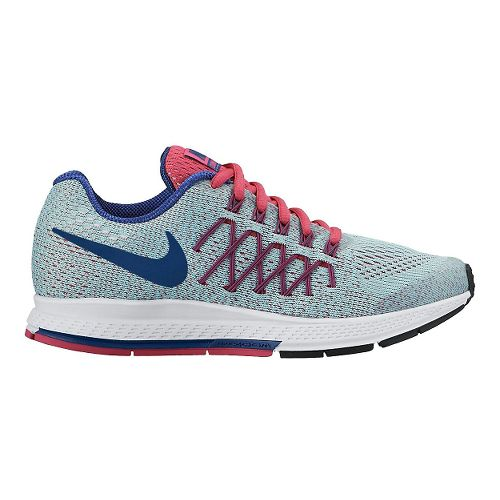 Kids Nike Air Zoom Pegasus 32 Running Shoe - Blue/Pink 5.5Y