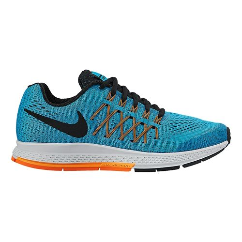 Kids Nike Air Zoom Pegasus 32 Running Shoe - Blue/Orange 1.5Y